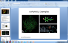 AxPyMOL allows pictures and movies to be easily inserted into PowerPoint